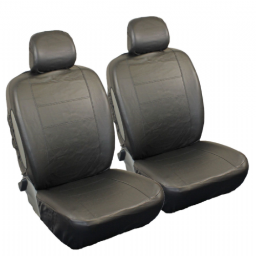leather look front seat covers